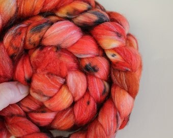 FireFly Wool Spinning Fibre Braid Sparkle Fiber