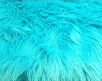 Turquoise Luxury Shag Faux Fur Fabric