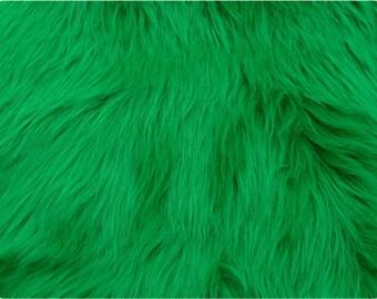 Emerald Luxury Shag Faux Fur Fabric