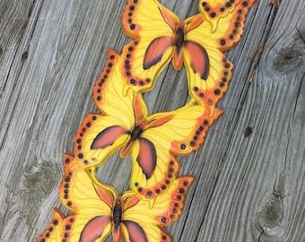 CIJ Butterfly Yellow Orange Mod Wall Art Sculpture 1970s Retro Universal Statuary Corp. Chicago USA