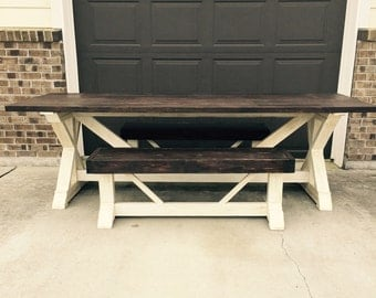 8ft farm table with one bench ***local pick up only***