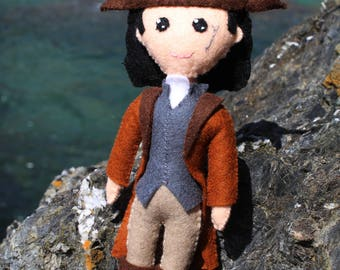 Handmade Felt Doll Inspired by Poldark