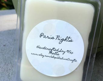 Paris Nights Soy Wax Melts - Jasmine Scented Wax Tarts - Musky Floral Scented Wax Melts - Highly Scented Soy Wax Melts - Sensual Wax Melts