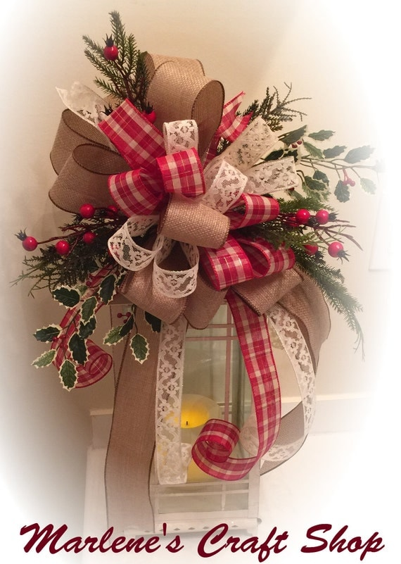 rustic christmas tree topper lantern swag wreath accent. Black Bedroom Furniture Sets. Home Design Ideas