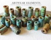 Bullet Shells, Primitive Art Shell Casings, Spent 45, 9MM, Mixed Lots and Singles, Hand Ox, Artwear Elements™ , Bead Caps, Tassel Supplies