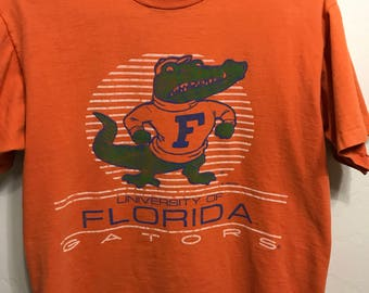 Vintage University of Florida T-Shirt - University of Florida Gators Football T-Shirt - 80's UF T-Shirt