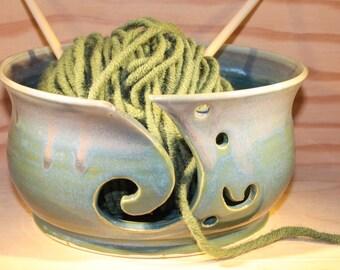 Yarn Bowl.  Ceramic Yarn Bowl.  Pottery Yarn Bowl.  Handmade Yarn Bowl