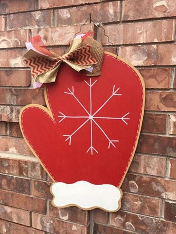Winter Door Hanger Mitten Door Hanger By Crazyartteacherlady