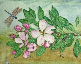 Apple Blossom and Honeybees