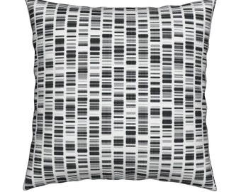 DNA pillow cover - 16x16inch cotton twill pillow cover - insert available - home textiles - fiber arts - science