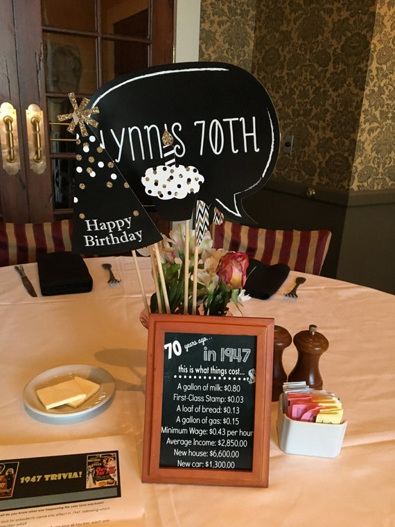 70th birthday table decorations ideas iron blog for Decoration 70th birthday