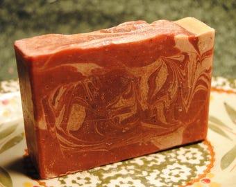 Peppermint Swirl Goats Milk Soap