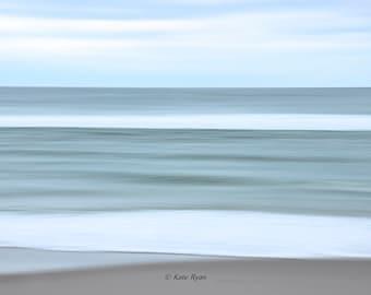 Abstract Ocean, Beach Wall Art, Photograph, Beach House Decor, Seaside Print, Cottage Decor, Coastal Art, 3 Color Choices, Blue, Green, Gray