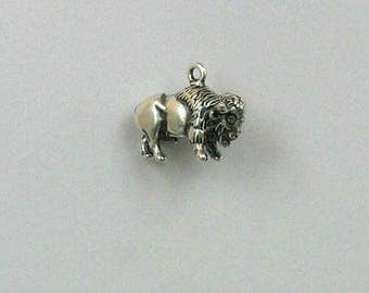 Sterling Silver 3-D Bison/Buffalo Charm