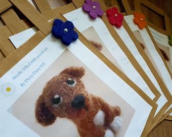 Mini pooch needle felting kit