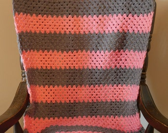 Pink and Gray Girl's Blanket