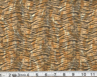 Half Yard Small Stripe Tiger Print fabric / wild Animal print Fabric / African Jungle Fabrics / Cotton Fabrics Tigers/