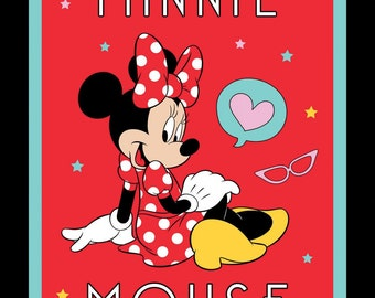 """Minnie Mouse cotton panel -- approximately 35"""" x 44"""""""