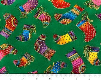 Laurel Burch Christmas Bountiful Blessings OOP Fabric #90355-4M