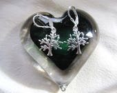 """Sterling Silver """"Family Tree of Life"""" Earrings"""