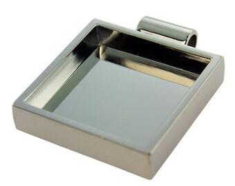"""Square Pendant 1-1/8""""x1-1/8"""" ID Silver Color (3000SC-42)"""