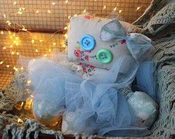 Evangeline the large handmade raggedy robot doll