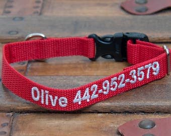 Personalized embroidered Dog Collars