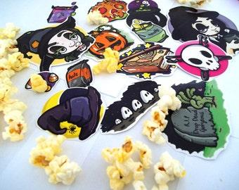 Spooky Halloween - 14 Stickers Set