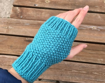 Knit Fingerless Mittens, gloves without fingers, winter accessories, winter clothing