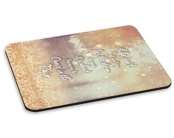 Dance In The Rain Quote PC Computer Mouse Mat Pad