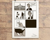 Changes, Obama cartoon hand signed Poster LIMITED EDITION