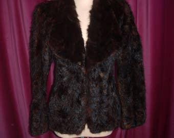 Vintage Mink Paws Blazer Jacket Coat