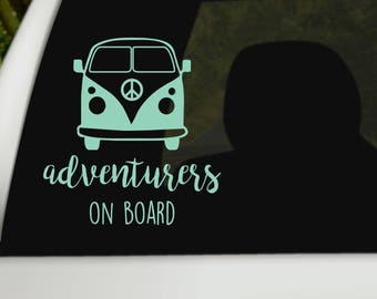 Customized Baby on Board Sticker/Decal for kids, Boho baby on Board, Baby on Board Hippe, Car Decal, Adventurers on board, Hippie Van decal