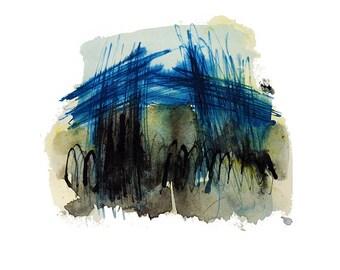 Abstract no.12 Art Print, Original Ink Drawing, Abstract, Nature Inspired Artwork