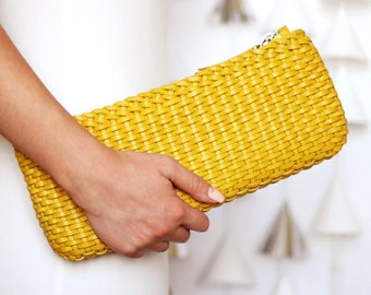 Free shipping! Yellow bag, yellow clutch, yellow leather bag, small yellow bag, leather clutch, yellow small bag, yellow womans bag