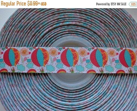 """SUPER SALE HOT Air Balloons 7/8"""" 22mm Grosgrain Hair Bow Craft Ribbon 782670"""