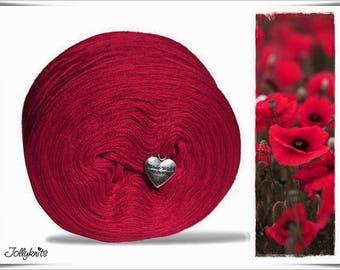Solid Yarn Merino Carmine Red 750m