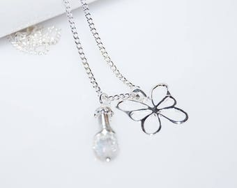 Necklace Butterfly Crystal