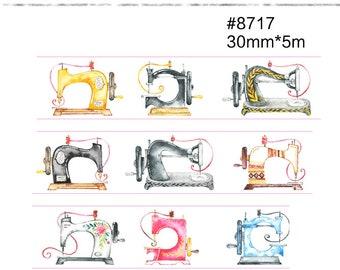 Sewing Machine Washi Tape --Masking Washi Tape--Deco tape--30mm x5M