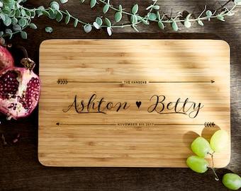 Custom Cutting Board Wood Cutting Board Personalized Wood Cutting Board Bridal Shower Gift Couples Gift Christmas Gift Cutting Board #21