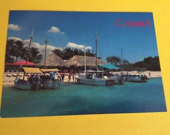 Vintage Unused 1980's Cozumel Mexico Postcard