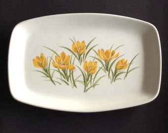 Figgjo Flint Norway Serving Plate with Yellow Crocuses