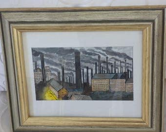 Lancashire 'Monday Morning' Original Watercolour by Stanley Toyn