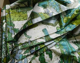 Everglaze chintz fabric by the yard / MCM fabric / kitchen fabric / dining fabric / polished cotton  / NOS