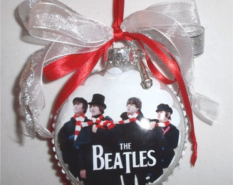 The Beatles  inspired Tribute Christmas Ornament