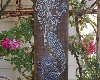 Mermaid towel hanger