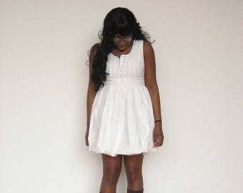 White Cupcake Balloon-Style Dress
