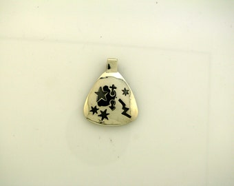 Sterling Silver Handmade Pendant with Geometric Shapes