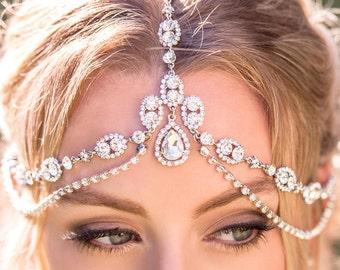 Boho Wedding Bohemian Bridal Headpiece Silver Bridal Hair Accessories Wedding Headpieces Silver Boho Bride Bridal Headpieces H207