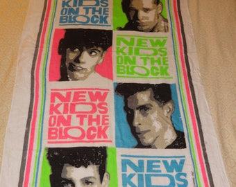 NEW Old Stock-- 1990's New Kids On the Block Bathroom / Beach Towel